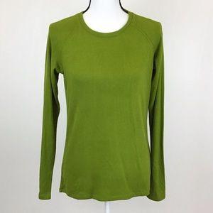 Uniqlo Bright Green Long Sleeve T-Shirt Shirt